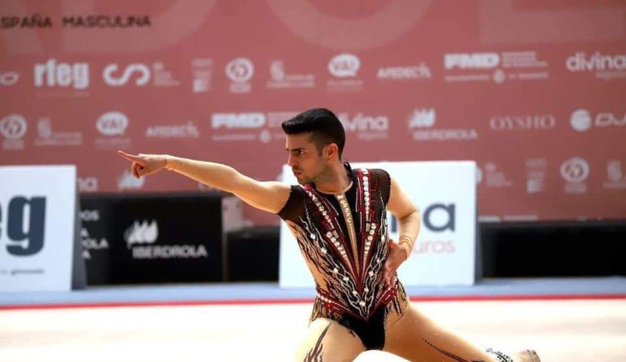 El gimnasta Cristofer Benítez, víctima de un ataque sexista de una deportista rusa.