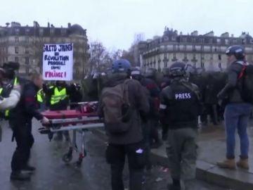 Protestas en Francia contra la implantación del 'certificado covid' que limita la movilidad de los no vacunados