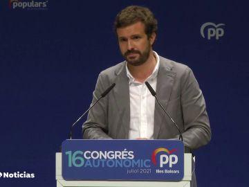 """Pablo Casado ve """"bochornosa"""" la gira de Pedro Sánchez por Estados Unidos"""