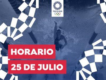 Horario y dónde ver las competiciones de este domingo 25 de julio de los Juegos Olímpicos desde España