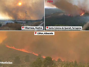 Un gran incendio arrasa 1.400 hectáreas en Santa Coloma de Queralt