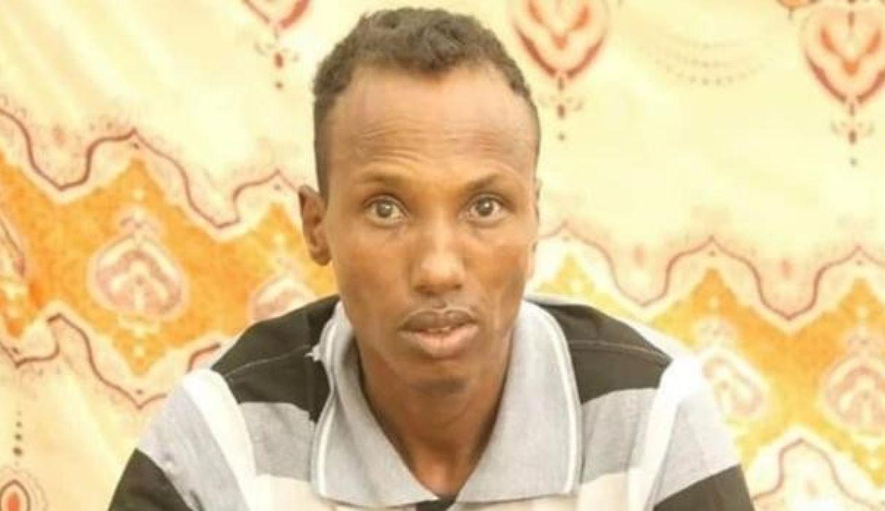 Imagen de Hussein Adan Ali emitida por la televisión local de Somalia.