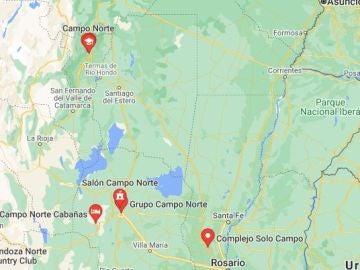 Zona de Campo Norte (Tucumán, Argentina) donde se produjo el suceso.