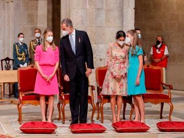 El rey Felipe VI junto a su familia