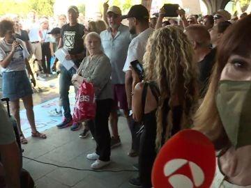 Manifestación negacionista en Madrid.