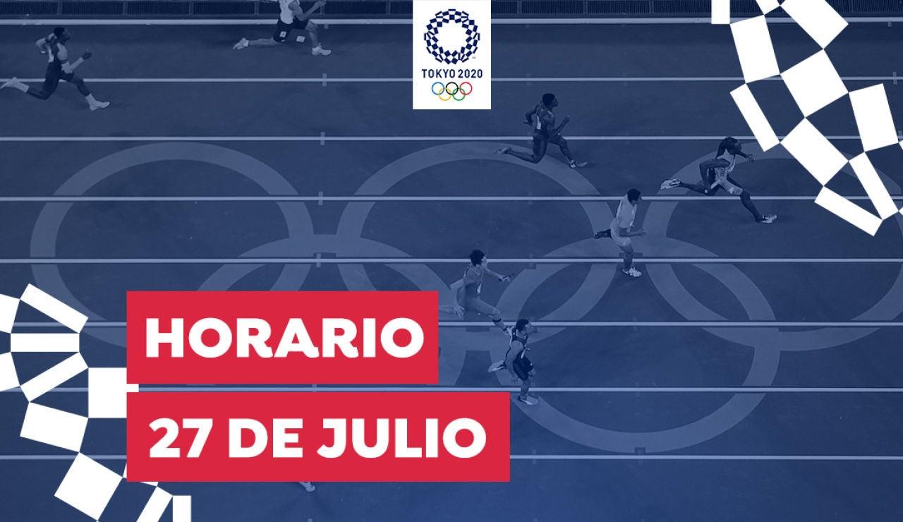 Horario y dónde ver las competiciones del martes 27 de julio de los Juegos Olímpicos desde España