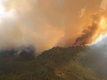 Controlado el incendio de Santa Coloma de Queralt, Tarragona, que ha arrasado más de 1.700 hectáreas