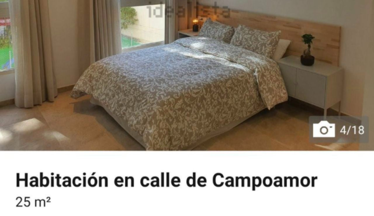 La habitación que oferta Idealista por la que tendrás que pagar 1.050 euros al mes