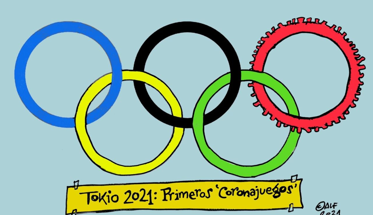 Los primeros 'Coronajuegos' Olímpicos, en la viñeta gráfica de Alfredo Boto-Hervás