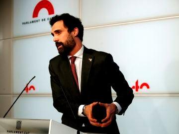 El expresidente del Parlament de Cataluña, Roger Torrent