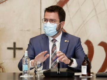 El presidente de la Generalitat, Pere Aragonés