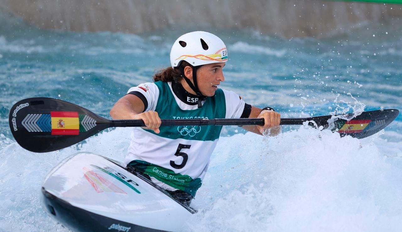 Maialen Chorraut, en la prueba de piragüismo de slalom