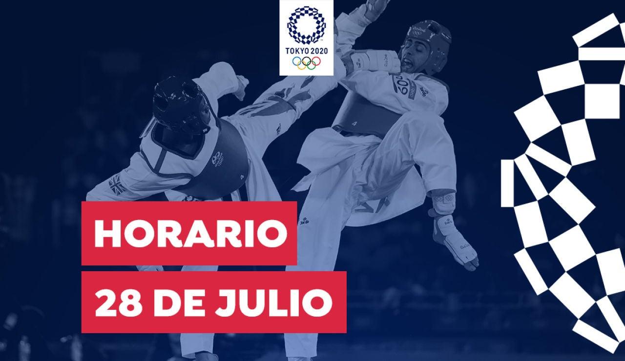 Horario y dónde ver las competiciones del miércoles 28 de julio de los Juegos Olímpicos desde España