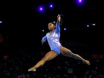 Simone Biles, en acción