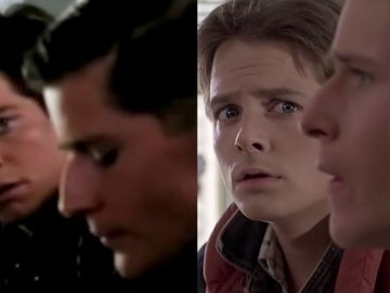Eric Stoltz y Michael J. Fox en 'Regreso al futuro'