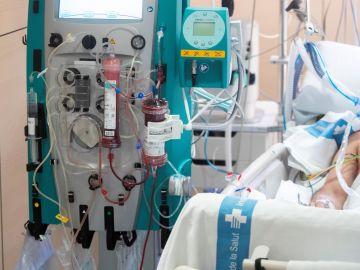 Un paciente afectado por la covid-19.