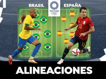 España - Brasil: Alineaciones del partido de fútbol de los Juegos Olímpicos de Tokio