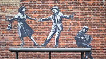Uno de los nuevos murales en Great Yarmouth, el Reino Unido