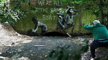 Uno de los nuevos murales en Lowestoft, Reino Unido