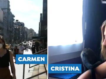 Carmen y Cristina pasaron el covid pero no pueden certificarlo