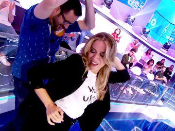 ¡Momentazo! Cristina Lasvignes se arranca a bailar con nuestro Marc Anthony en 'La Pista'
