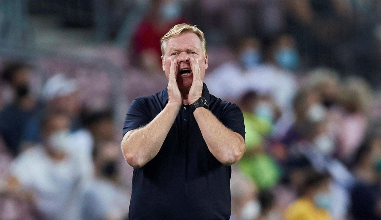 """Koeman: """"La primera media hora ha sido el mejor Barcelona en muchos años"""""""