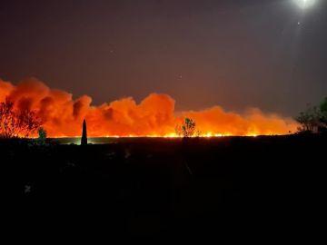 Evacuadas miles de personas por un incendio forestal al sur de Francia