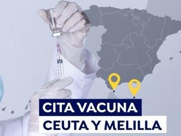 Cómo pedir cita para la vacuna del covid en Ceuta y Melilla