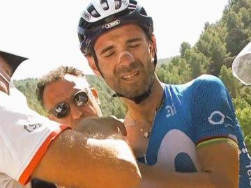 La dura caída de Alejandro Valverde que le ha obligado a abandonar la Vuelta a España