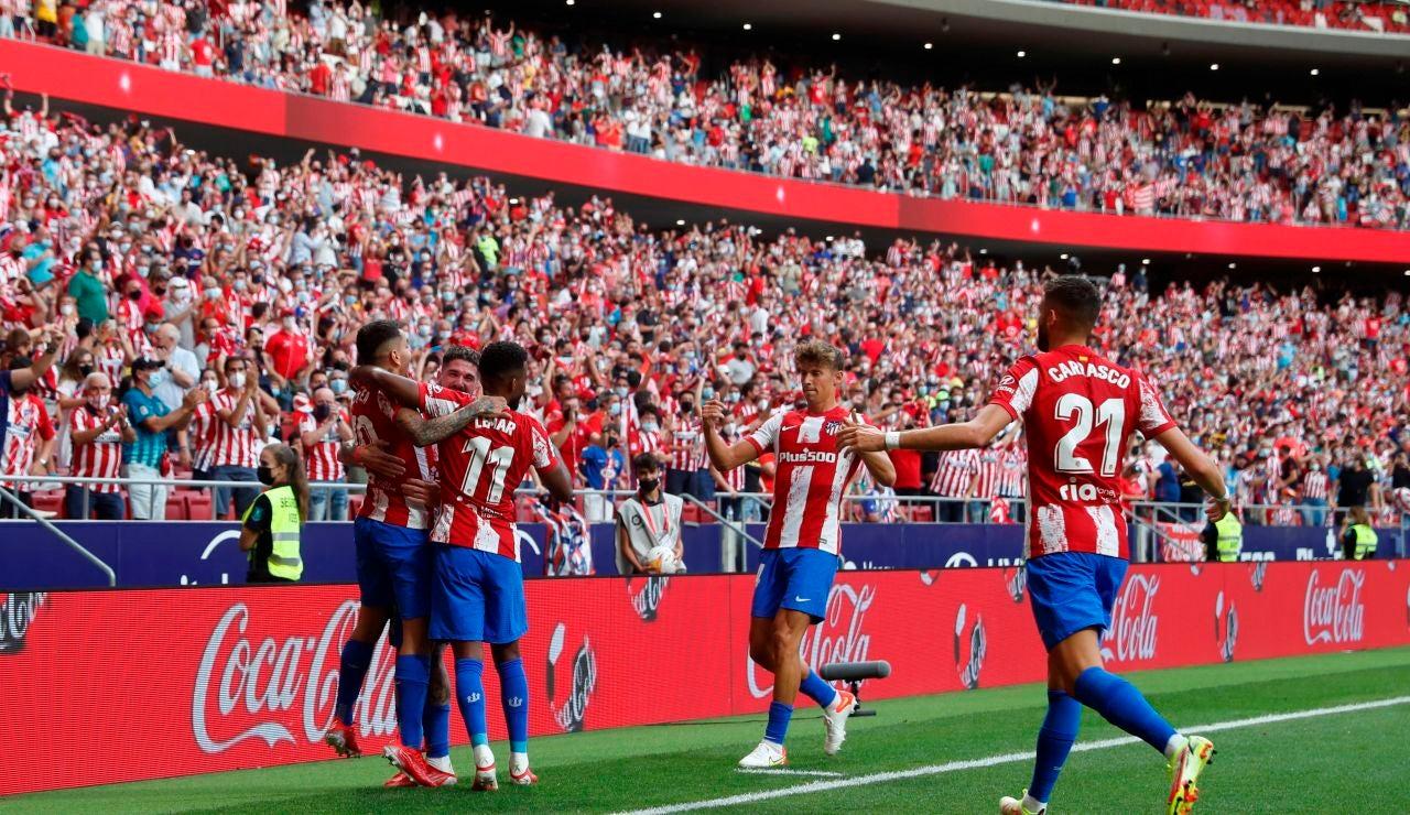 El Atlético de Madrid vence por la mínima al Elche en la vuelta al Wanda Metropolitano