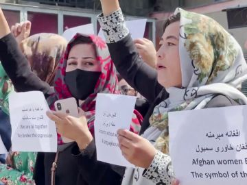 Mujeres afganas protestas