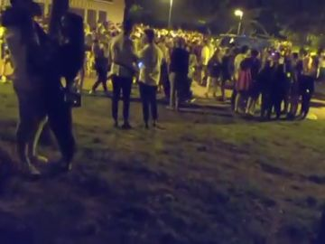 Desalojadas 1.400 personas en varios botellones en el Parque del Ebro de Logroño