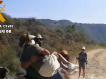 Rescate peregrinos en el Camino de Santiago