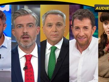 Antena 3 gana el martes y lidera también en la tarde y la noche con lo más visto de la TV