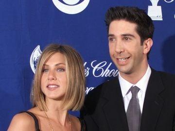David Schwimmer y Jennifer Aniston, Ross y Rachel en 'Frineds'