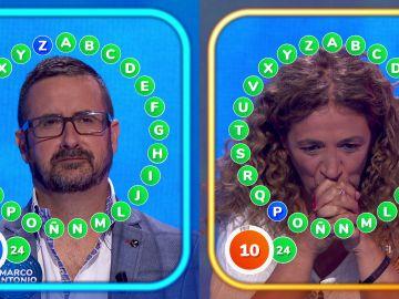 """""""Escalofrío común"""" con Marco Antonio y Sofía a una del bote de 'Pasapalabra': ¿Alguno completa 'El Rosco'?"""