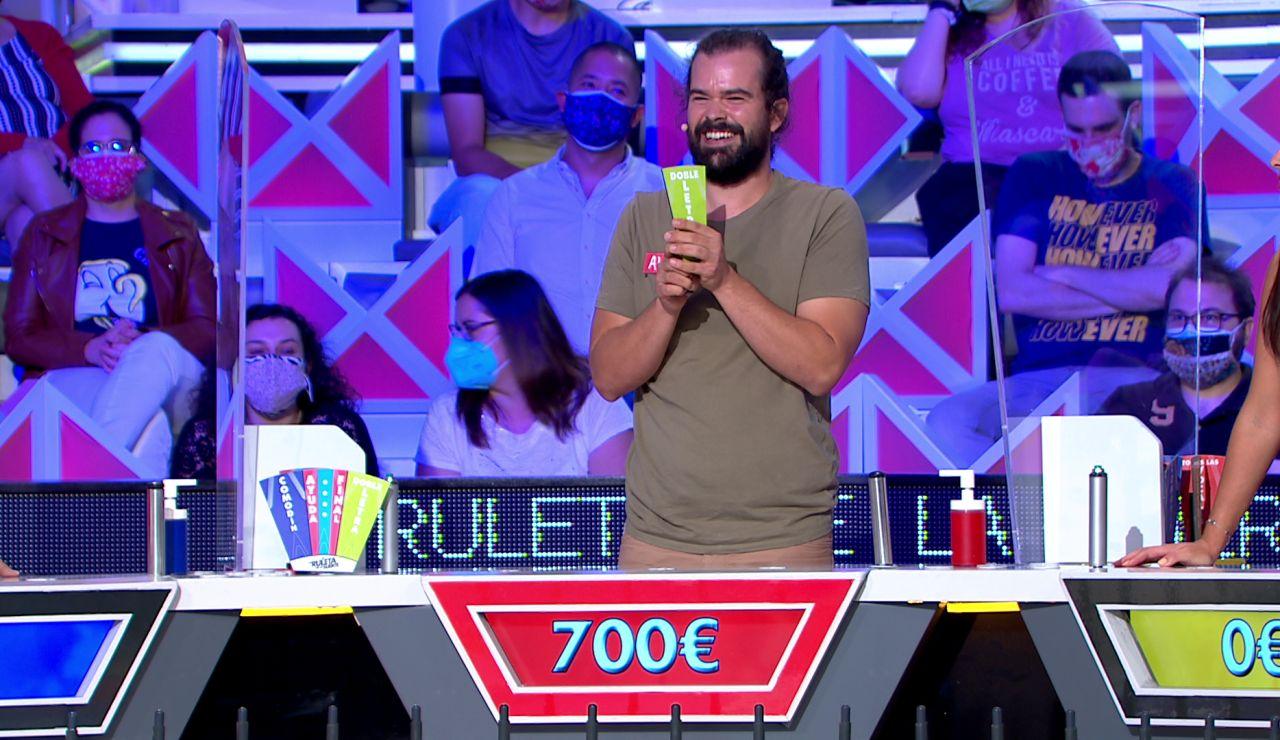 """El público de 'La ruleta de la suerte' decide el futuro de Alberto: """"No me líes más"""""""