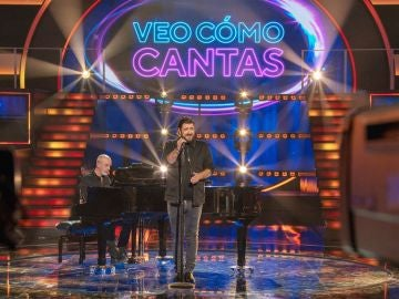 Antonio Orozco, pura sensibilidad con su single 'Entre sobras y sobras me faltas' en 'Veo cómo cantas'