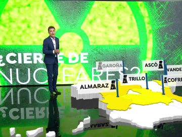 El mapa de las centrales nucleares en España
