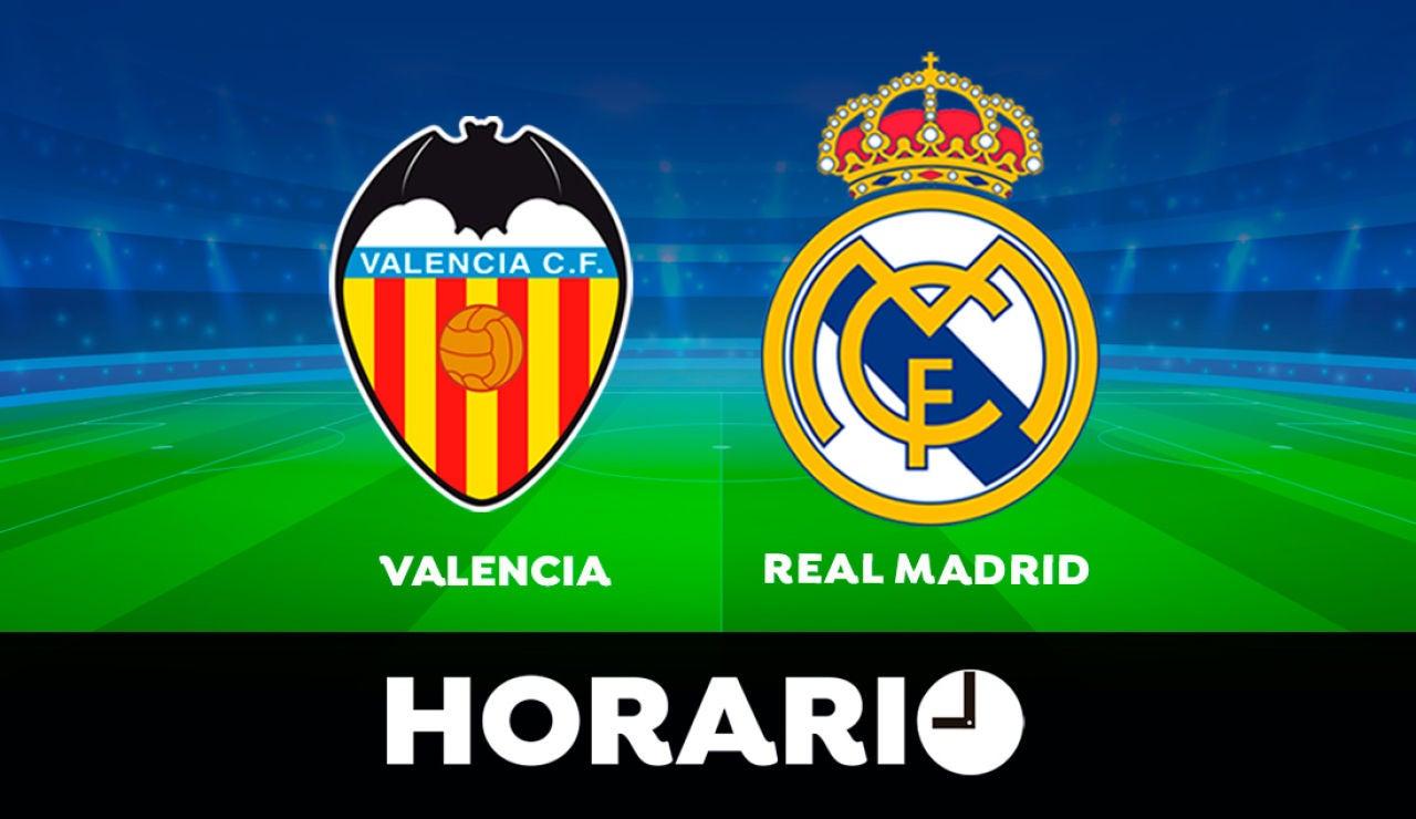 Valencia - Real Madrid: Horario y dónde ver el partido de la Liga Santander en directo