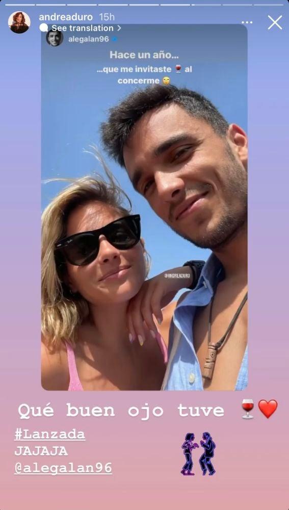 Andrea Duro revela cuándo y cómo comenzó su relación con Alejandro Galán