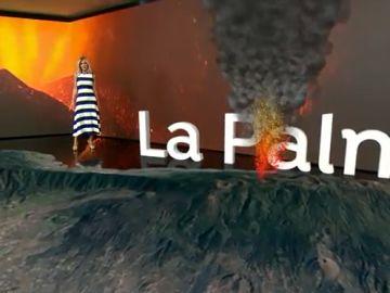 Así se ve el volcán de La Palma con la realidad aumentada