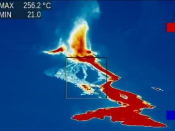 Imágenes infrarrojas de la actividad magmática en La Palma tras la erupción del volcán