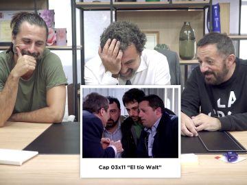 Risas y nostalgia: Paco Tous, Hugo Silva y Pepón Nieto reviven una gran 'pacada' con Juan Diego