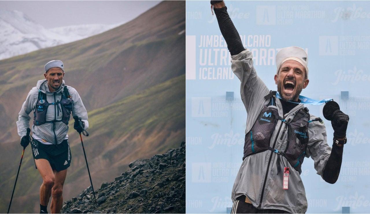 Chema Martínez se corona en la Volcano Ultra Marathon, la carrera que discurre entre volcanes en Islandia