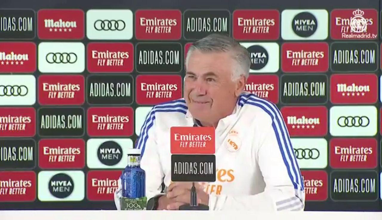 """Ancelotti: """"Hemos jugado 5 partidos fuera en campos complicados, el equipo tiene pelotas"""""""