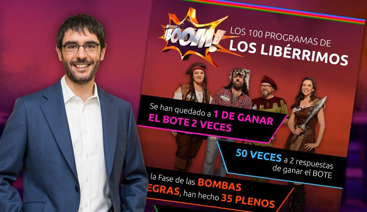 Los 'Libérrimos', en datos y curiosidades al cumplir 100 programas en '¡Boom!'