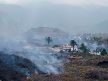 10 casas sepultadas por la lava en Todoque