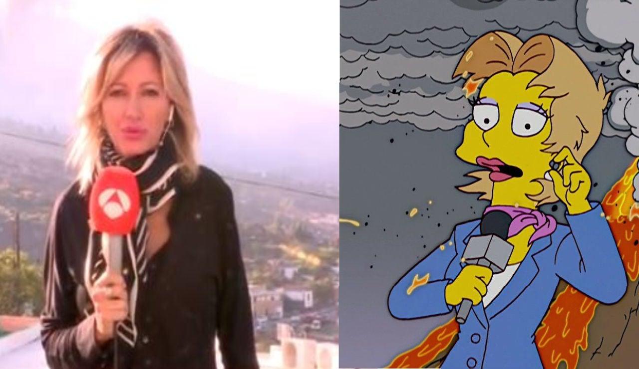 El meme de Los Simpsons y Susanna Griso que se hace viral tras la erupción del volcán en La Palma