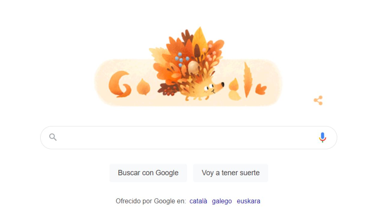 Google dedica un doodle especial a la llega de otoño